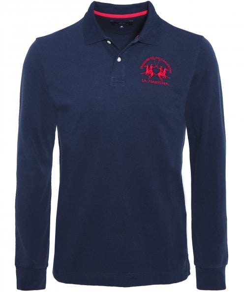 La Martina Regular Fit Long Sleeve Milo Polo Shirt