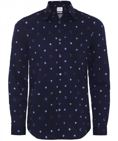 PS by Paul Smith Tailored Fit Scribble Spot Shirt