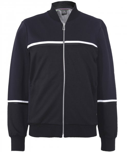 PS by Paul Smith Viscose Blend Bomber Sweatshirt