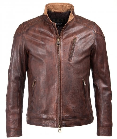 Barbour International Leather James Jacket