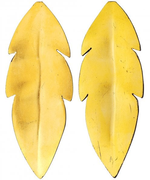 Isidore Domingo Long Leaf Earrings