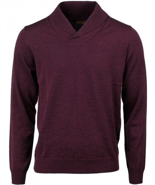 Stenstroms Merino Wool Shawl Collar Jumper