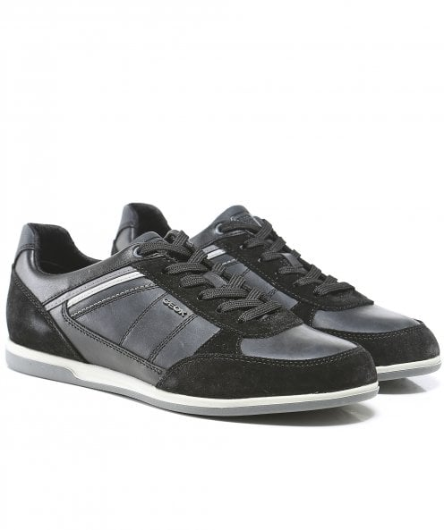 Geox Waxed Leather Renan B Trainers