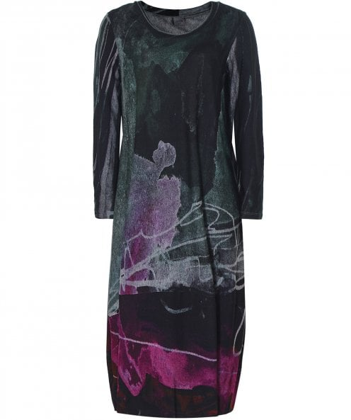 Crea Concept Abstract Print Jersey Dress