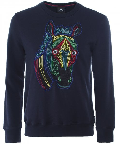 PS by Paul Smith Regular Fit Zebra Sweatshirt