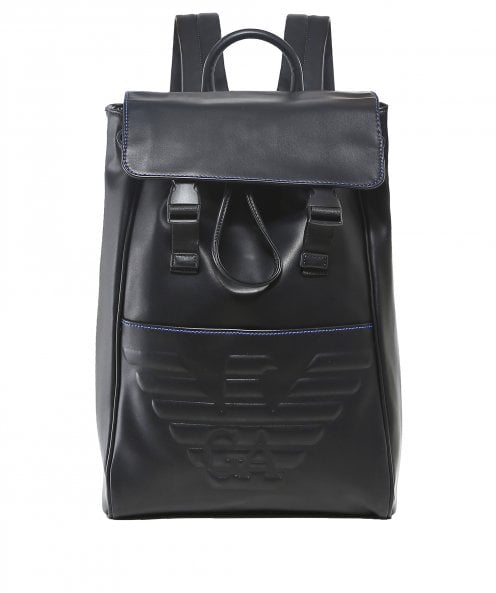 Armani Debossed Maxi Logo Backpack