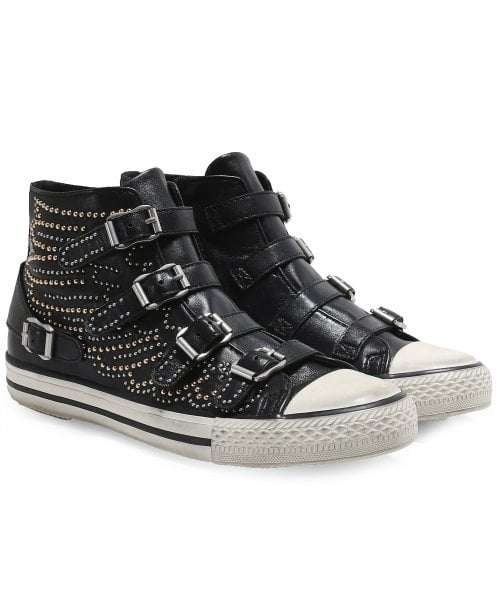Ash Verso Studded Buckle Trainers