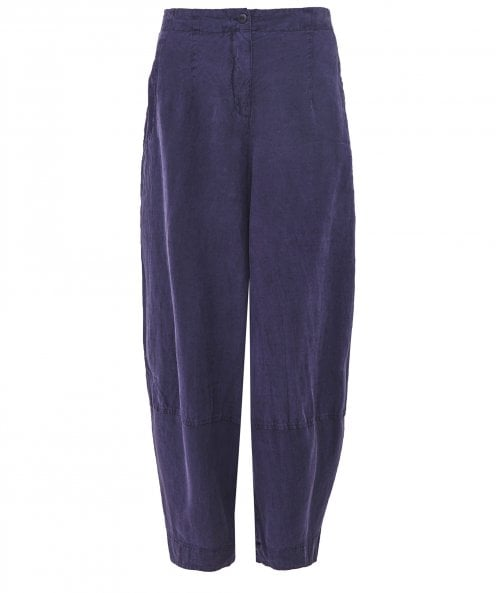 Grizas Linen Blend Cropped Trousers