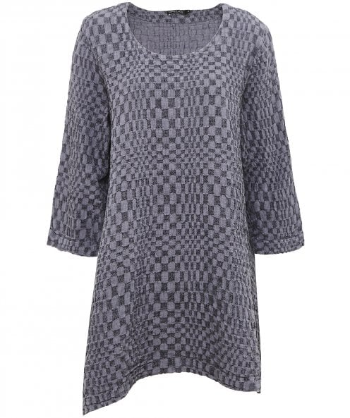 Grizas Linen Textured Asymmetric Tunic
