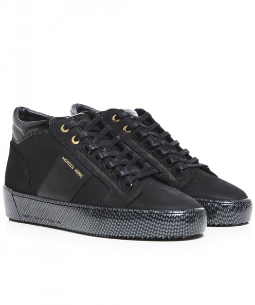 Android Homme Leather Mid-Top Propulsion Trainers
