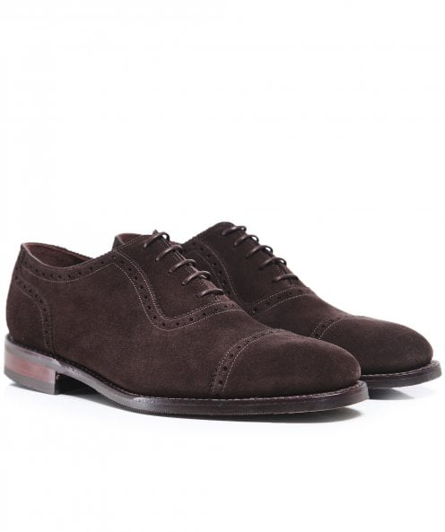 Loake Suede Fleet Oxford Shoes