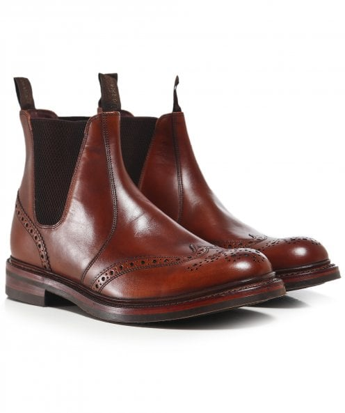 Loake Leather Enfield Brogue Boots