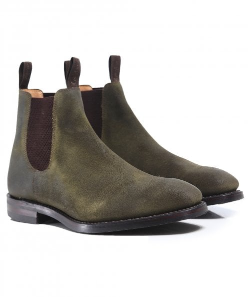 Loake Waxed Suede Chatsworth Chelsea Boots