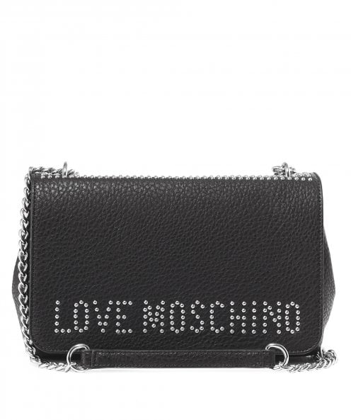 Moschino Love Moschino Studded Logo Shoulder Bag