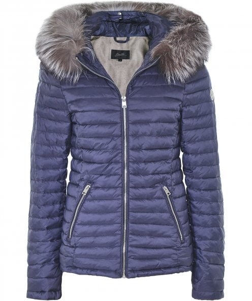Oakwood Jolie Fur Trim Quilted Jacket