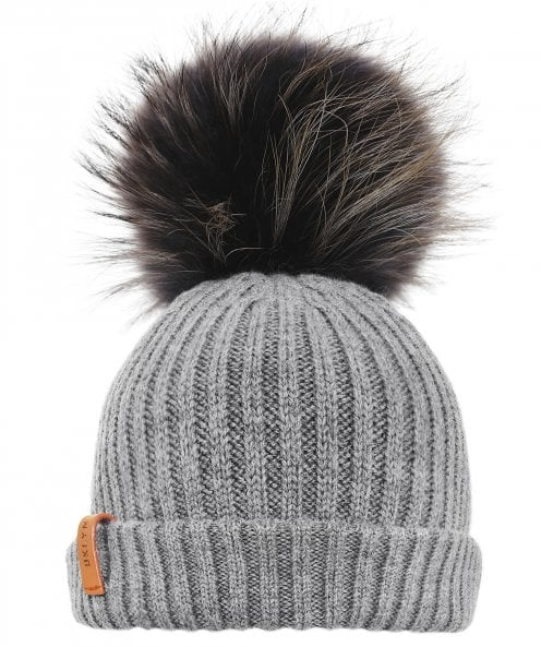 BKLYN Merino Wool Beanie Bobble Hat