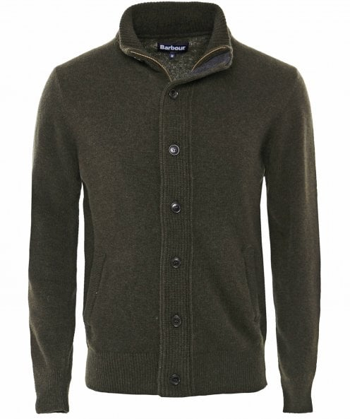 Barbour Zip-Through Patch Cardigan