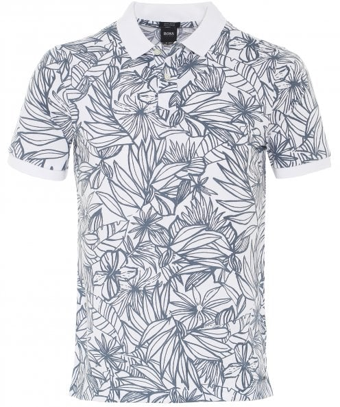 BOSS Regular Fit Floral Parlay 23 Polo Shirt