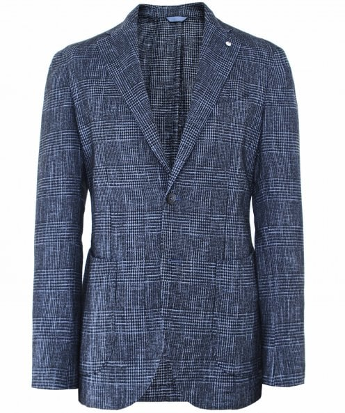 LBM 1911 Wool Blend Check Jacket