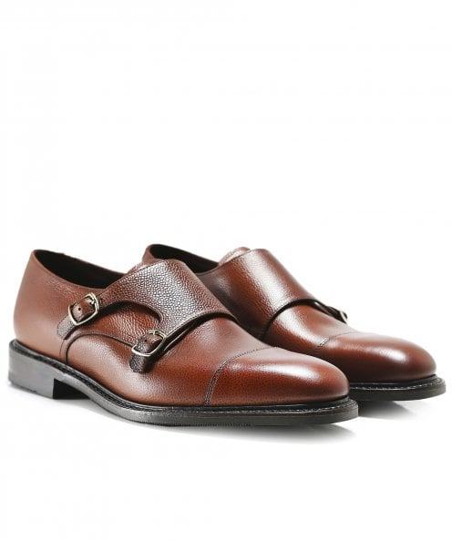 Loake Leather Benedict Monk Strap Shoes
