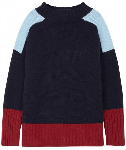 Chinti and Parker Cashmere Contrast Panel Comfort Jumper