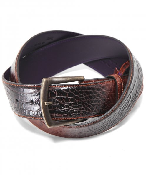 Elliot Rhodes Leather Mock Croc Belt