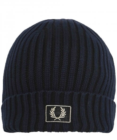 Fred Perry Cotton Two Tone Ribbed Beanie
