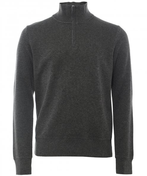 GANT Cotton Sacker Rib Half-Zip Sweatshirt