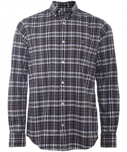 Gant Regular Fit Melange Plaid Check Shirt