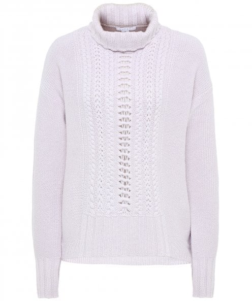 Duffy Cable Knit Funnel Neck Jumper
