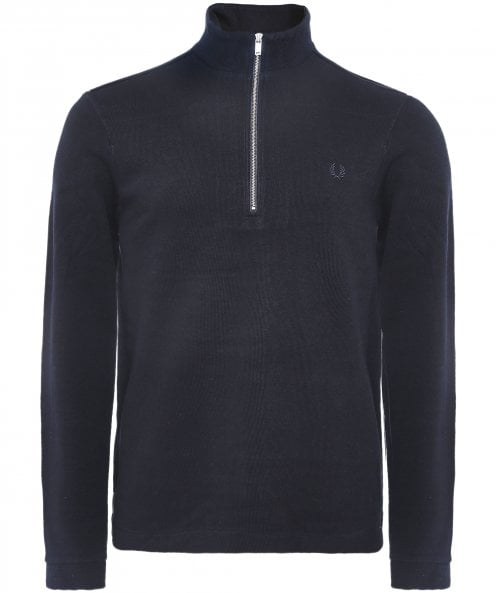 Fred Perry Cotton Half-Zip Jumper