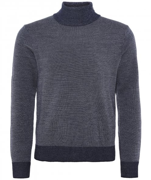 LBM 1911 Textured Wool Roll Neck Jumper