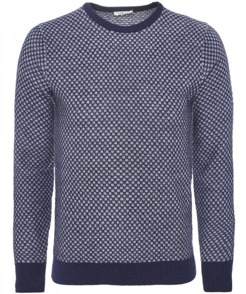 LBM 1911 Textured Wool Crew Neck Jumper
