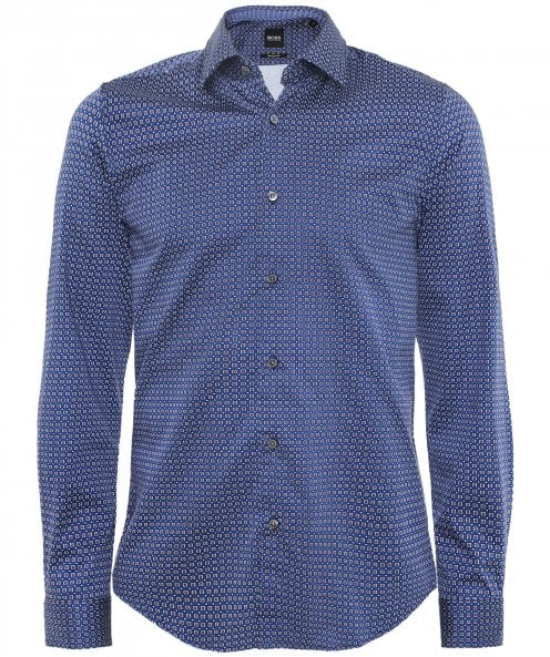 BOSS Regular Fit Patterned Lukas_F Shirt