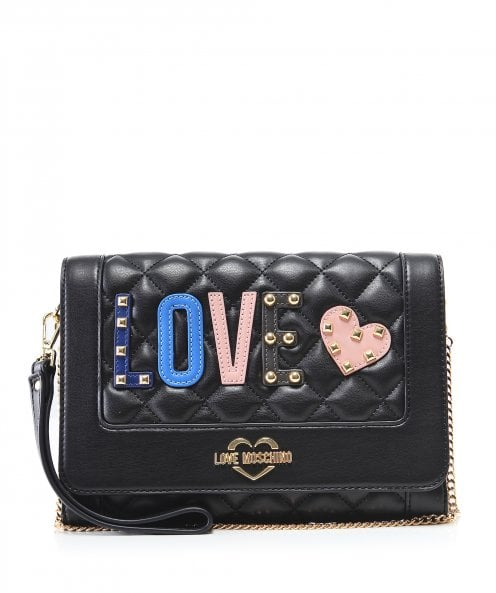 Moschino Love Moschino Quilted 'Love' Clutch Bag