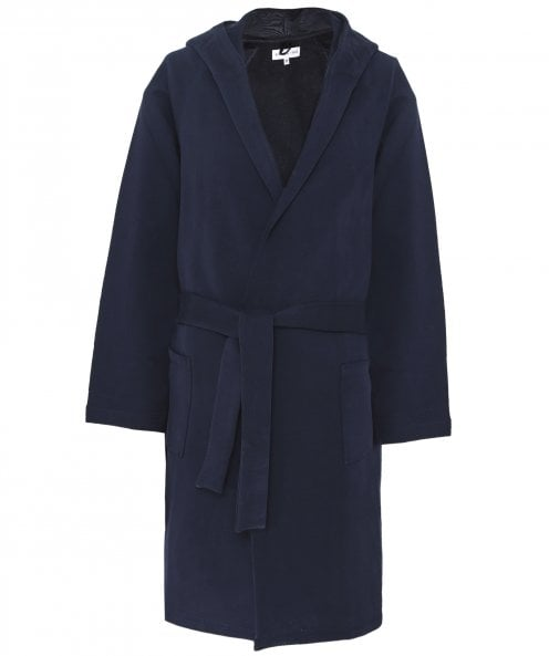 Hamilton and Hare Jersey Cotton Hooded Robe