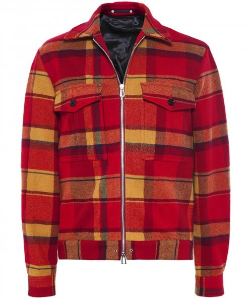 PS by Paul Smith Wool Blend Tartan Check Jacket
