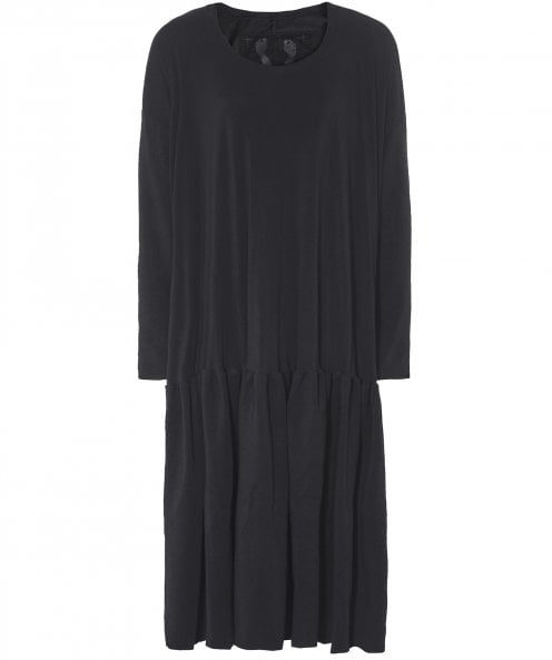 Rundholz Pleated Hem Jersey Dress