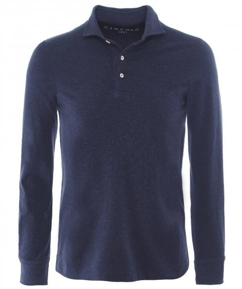 Circolo 1901 Jersey Cotton Long Sleeve Polo Shirt