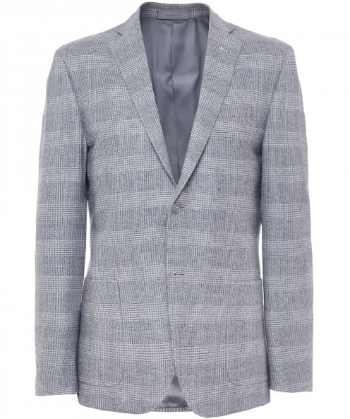 Corneliani Virgin Wool Check Jacket