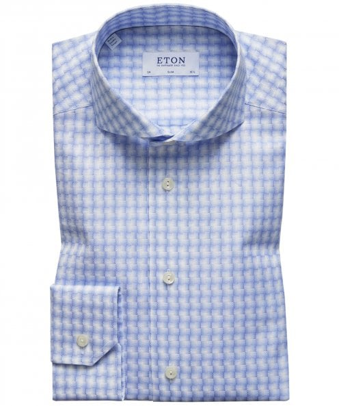 Eton Slim Fit Abstract Check Shirt