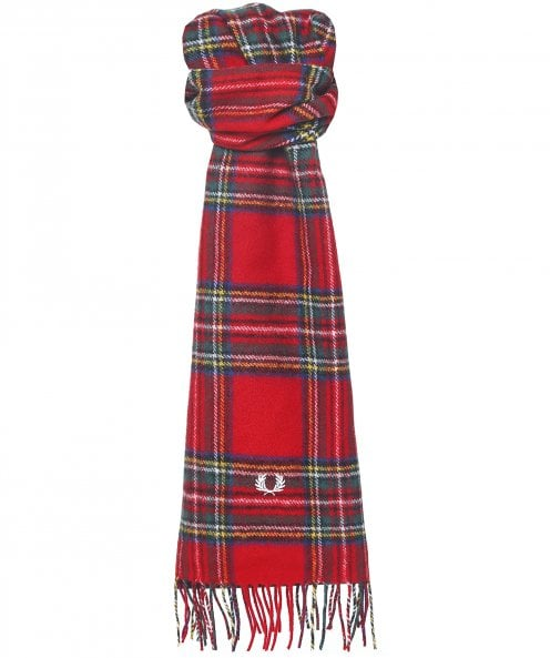 Fred Perry Lambswool Royal Stewart Tartan Scarf