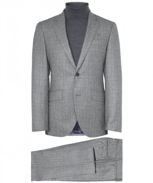 Hackett Wool Saxony Glen Check Suit