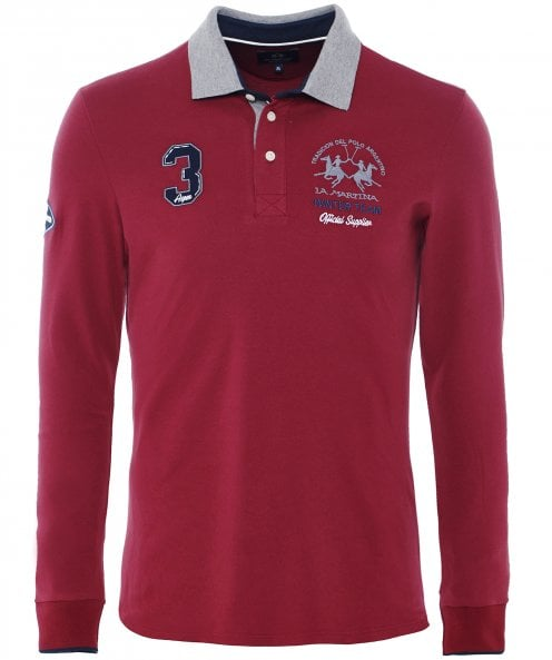 La Martina Long Sleeve Dominick Polo Shirt