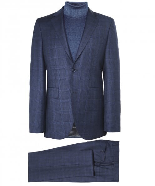 Hackett Wool Prince of Wales Check Suit