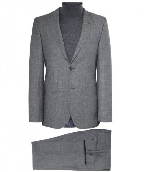 Hackett Wool Textured Birdseye Suit