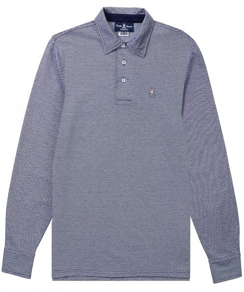 Psycho Bunny Pima Cotton Long Sleeve Ealing Polo Shirt