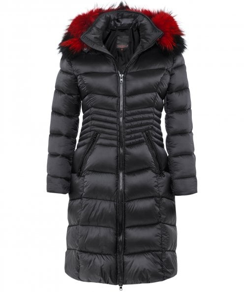 Froccella B220L Quilted Fur Trim Parka