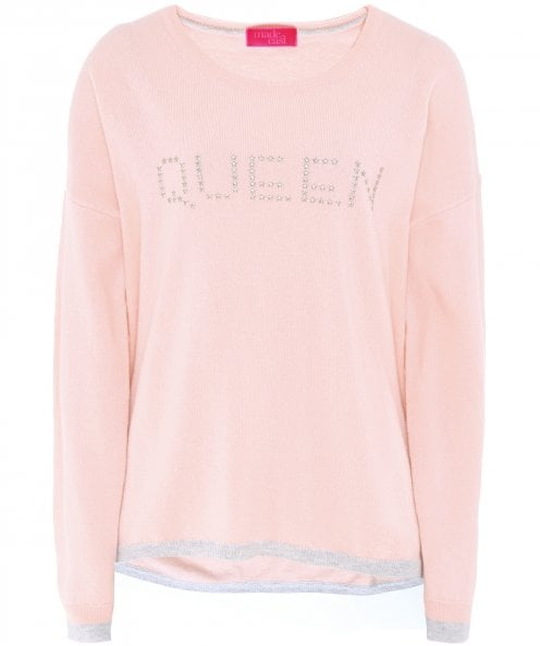 Made East Cashmere Maya 'Queen' Studded Jumper
