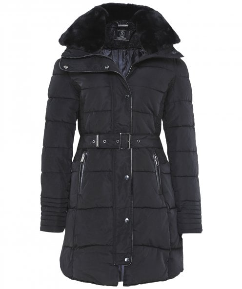 Rino and Pelle Blush Long Puffa Jacket